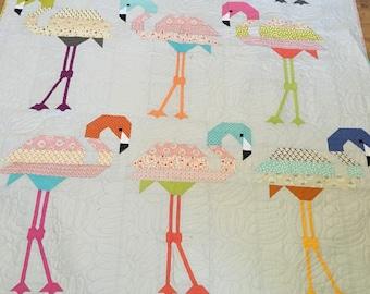 Flamingo quilt size 58x75