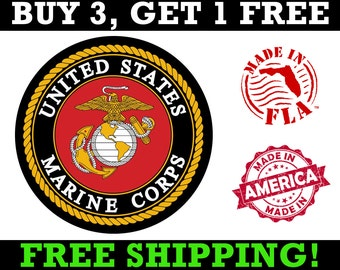 MARINE CORPS VETERAN MILITARY SEAL HELMET CAR BUMPER DECAL STICKER MADE IN  USA