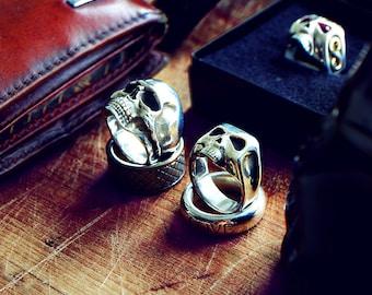Johnny Depp Sterling Silver Skull Ring Handcrafted