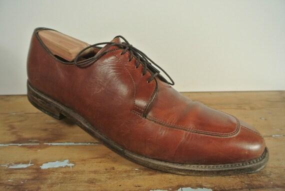 Allen Edmonds Delray Men Black Leather Split Toe Oxford Lace Up Shoes Size 10 D