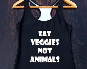 Vegan Tank Top - funny vegan shirt, vegetarian shirt, vegan tee, gifts for vegans, womens vegan shirt, animal rights tshirt, vegan clothing