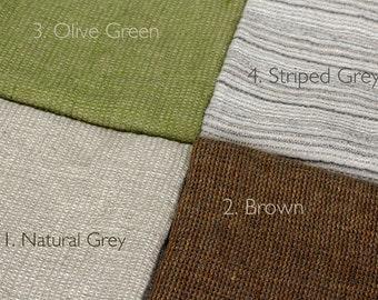 Waffle Linen Bath Towels in Natural Grey | 100% Natural Linen Bathroom Towel Sheets | Prewashed Soft Linen Towels | Checks Pattern Textured