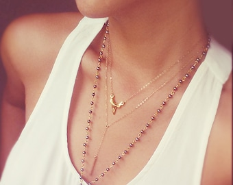 Gold Shark Tooth Necklace - 14K Gold Filled Chain