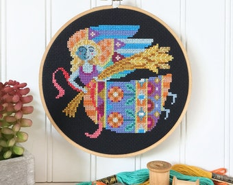Virgo - zodiac sign - Satsuma Street modern cross stitch pattern PDF - Instant download