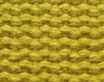 """Cotton Webbing 1 1/4"""" Mellow Yellow For Key Fobs Handbags Crafts"""
