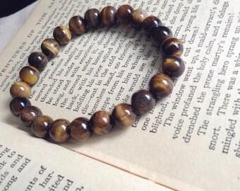 Mens Tigereye Bracelet/ Tigereye Mala Bracelet/ Enery Bracelet/ Mens Gemstone Bracelet/Yoga Bracelet