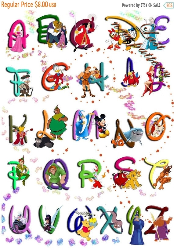 movies that start with the letter e alphabet disney characters cross stitch alphabet disney 12239 | il 570xN.1471199408 og7b