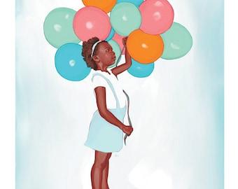 Balloon Girl, Print, 8x10