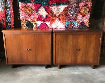 SALE-MID CENTURY Modern Pair of Storage Cabinets (Los Angeles)