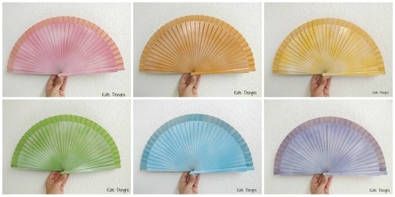 FANtasy Pastel Rainbow Hand Fan