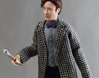 Miniature Porcelain Dollhouse Doll in 1:12-OOAK Dr. Who