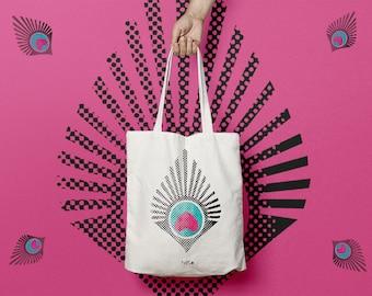 Pen bag in cotton or tote bag pattern logo