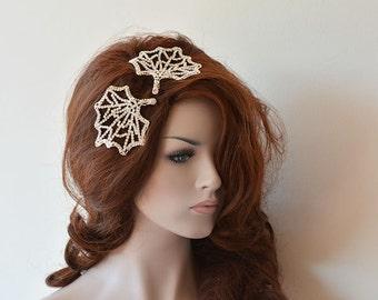 Wedding Leaf Comb, Rhinestone Leaf Hair Comb, Leaf Hair Combs for Wedding, Leaf Head Piece Wedding, Bridal Hair Pin Clips, Prom Comb