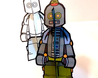Robot Robot Paper Doll Set - Printable Toy