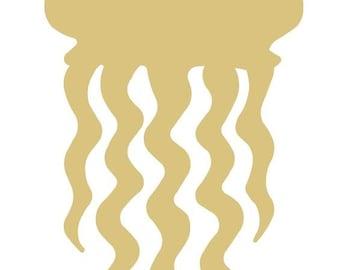 Jellyfish Style 2 Unfinished MDF Wood Cutout Variety of Sizes USA Made Nautical Decor
