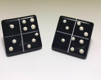 Domino Stud Earrings