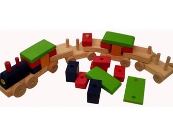 """31,5"""" Wooden train"""