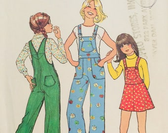 Simplicity 7032, Size 6 Child's Jumper and Overalls Pattern, UNCUT, Vintage Pattern, Play, Casual, Classic Style, Bib Overalls and jumper