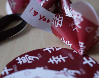 SURPRISE your kids with these printable Chinese Paper Fortune Cookie Lunchbox Notes