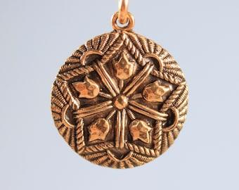 Tulip Mandala Charm Necklace