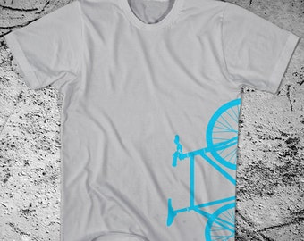 Fixie Bike T-Shirt Fixed Gear Bicycle. Printed on Ultra Soft Ringspun Cotton