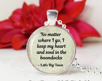 Round Medium Glass Bubble Pendant Necklace- Boondocks- Little Big Town Song Lyrics