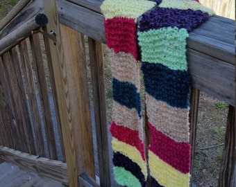 Extra Long Woman's Scarf- Extra Long and Warm Woman's Scarf- Extra Long and Soft Woman's Scarf- Scarf- Multi-colored scarf- Woman's Scarf