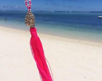 Necklace Yoga tassel - Buddha - Meditation Chakra - long tassel - necklace collar necklace beads - Mala necklace - long & Koh