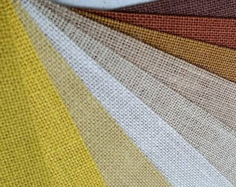 9 inch burlap ribbon  - Ivory  - Beige - Butter - Yellow - Natural - Harvest Gold - Terracotta _ Brown