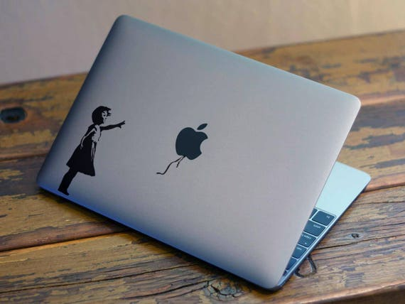 Banksy the girl who lost a balloonDecal Sticker, Graffiti, Street art, London Banksy Girl and Balloon, mac, Macbook Decal Sticker