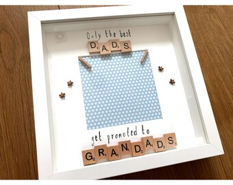 Father's Day present, gift for fathers, dads lresent, grandad present, gift to grandad, gift for new grandad, pregnancy announcement