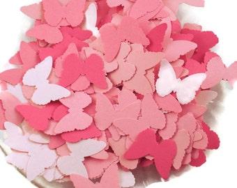 Funfetti Paper Confetti  Die Cut Butterflies in Pink Pop Quantity 250