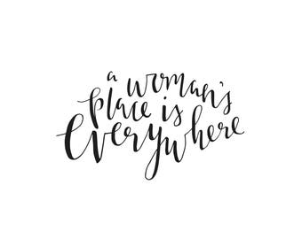 A woman's place is everywhere | A6 Postcard Print |