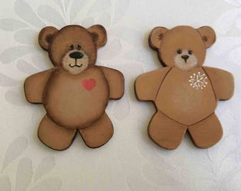 Two Small Painted Bears