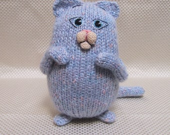 Toy Cat stuffed soft knitted animal