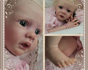 Ella : Adopted baby pics shown Reborn baby girl (custom doll made just for you)