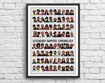 Art-Poster 50 x 70 cm - Legendary Rappers Chronology