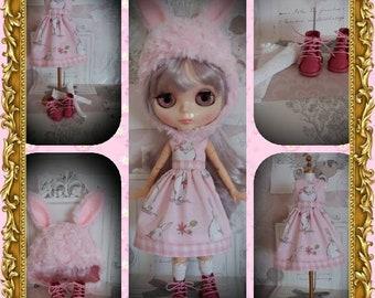 Blythe bunny dress set