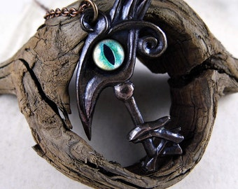 Key of Thoth -- Handmade Bronze Pendant
