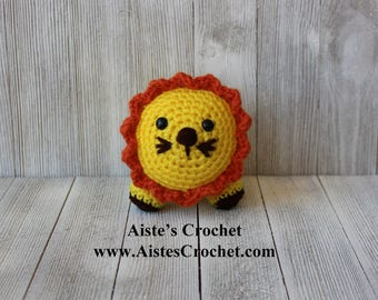 Handmade Crochet Little Amigurumi Lion / Plush Toy - Ready to ship