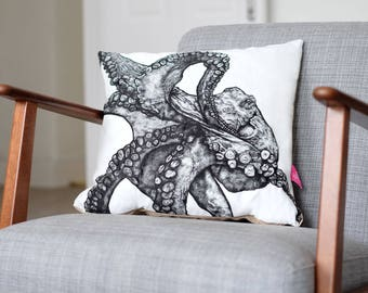 Illustrated Octopus Cushion