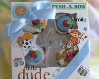 Baby Boy Sport Theme Baby Cakes..Little Monkey All Star..Onesie..Shorts..Bib..Socks..Baby Washcloths..Baked..Ready to Ship..Adorable :)