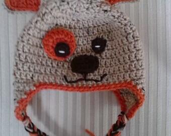 Crochet Puppy Hat / Animal Hat