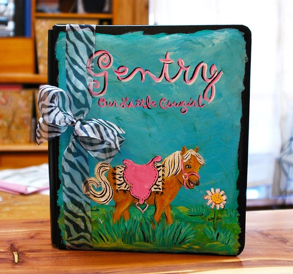 Little Cowgirl Baby Memory Book