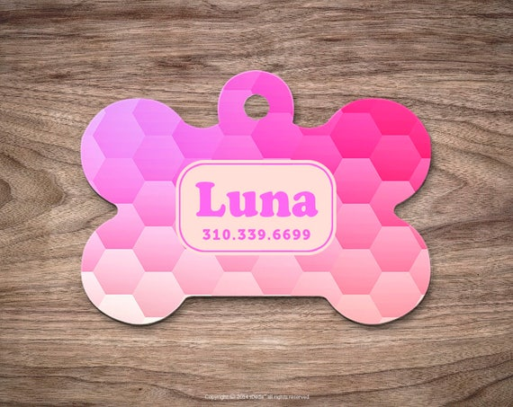 Dog Tag Honeycomb Dog Tag for Collar Cute Pet ID Tag Custom Dog Name Tag Puppy Tag Personalized Dog ID Tag Custom Pet Tag for Dog