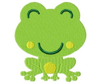 Embroidery Design Little Frog 5 4'x4' - DIGITAL DOWNLOAD PRODUCT
