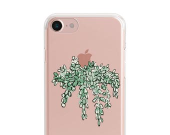 Sale 50% OFF, Hanging Plants, Clear Soft Phone Case, iPhone 7, iPhone 8 plus, iPhone 6, iPhone SE