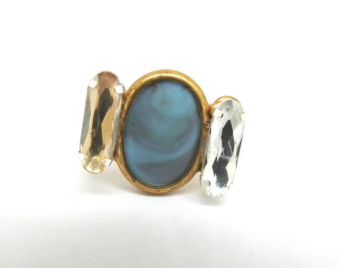 Malibu blue ring, a lovely gift for women.