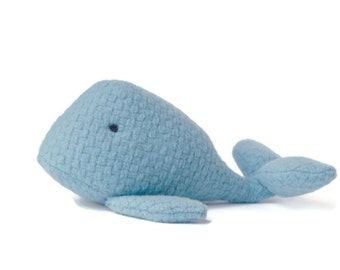 Blue Whale Toy, Decorative Stuffed Soft  Toy Home Decor, Plush Nursery Decor, Baby Shower Gift Idea, Decorative Toy