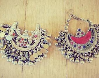 Two Ornate Kuchi Nosering Pendants